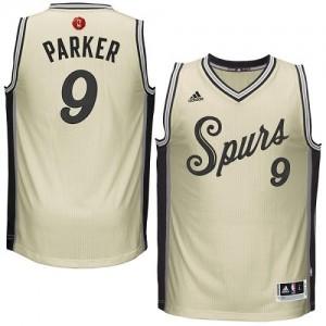 Maillot Adidas Crème 2015-16 Christmas Day Swingman San Antonio Spurs - Tony Parker #9 - Homme