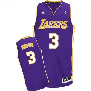 Maillot Swingman Los Angeles Lakers NBA Road Violet - #3 Anthony Brown - Homme
