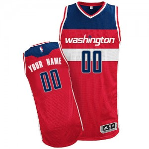 Maillot Washington Wizards NBA Road Rouge - Personnalisé Authentic - Homme