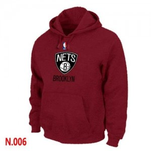 Pullover Sweat à capuche Brooklyn Nets NBA Rouge - Homme