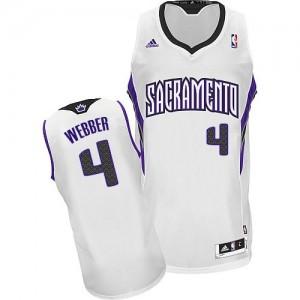 Maillot Swingman Sacramento Kings NBA Home Blanc - #4 Chris Webber - Homme