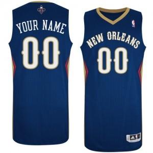 New Orleans Pelicans Personnalisé Adidas Road Bleu marin Maillot d'équipe de NBA la meilleure qualité - Authentic pour Homme