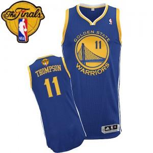 Golden State Warriors #11 Adidas Road 2015 The Finals Patch Bleu royal Authentic Maillot d'équipe de NBA en ligne - Klay Thompson pour Femme