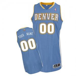 Denver Nuggets Personnalisé Adidas Road Bleu clair Maillot d'équipe de NBA pas cher - Authentic pour Homme