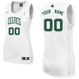 Maillot NBA Blanc Swingman Personnalisé Boston Celtics Home Femme Adidas