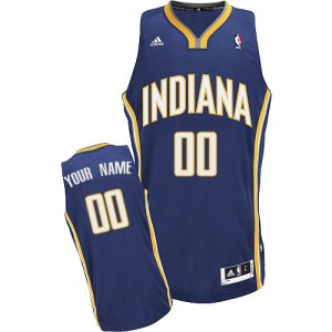 Maillot Indiana Pacers NBA Road Bleu marin - Personnalisé Swingman - Homme