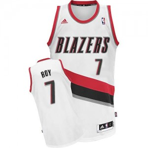 Maillot NBA Portland Trail Blazers #7 Brandon Roy Blanc Adidas Swingman Home - Homme