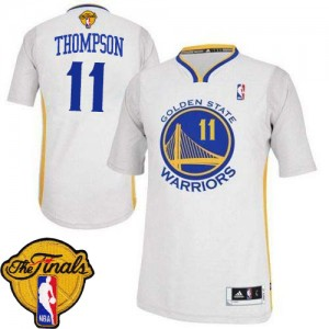 Maillot Adidas Blanc Alternate 2015 The Finals Patch Authentic Golden State Warriors - Klay Thompson #11 - Femme