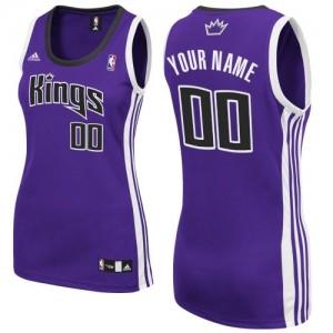 Sacramento Kings Swingman Personnalisé Road Maillot d'équipe de NBA - Violet pour Femme