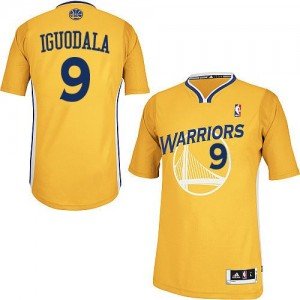 Golden State Warriors #9 Adidas Alternate Or Authentic Maillot d'équipe de NBA prix d'usine en ligne - Andre Iguodala pour Homme