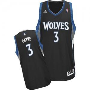 Maillot Adidas Noir Alternate Swingman Minnesota Timberwolves - Adreian Payne #3 - Homme