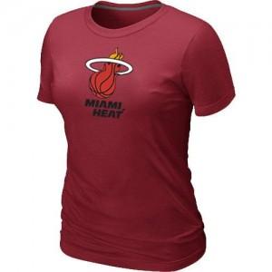 Miami Heat Big & Tall Rouge T-Shirts d'équipe de NBA pour pas cher - pour Femme