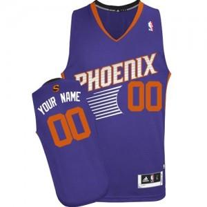 Phoenix Suns Authentic Personnalisé Road Maillot d'équipe de NBA - Violet pour Femme