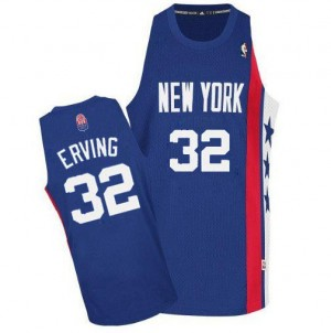 Maillot NBA Authentic Julius Erving #32 Brooklyn Nets ABA Retro Throwback Bleu - Homme