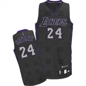 Maillot Authentic Los Angeles Lakers NBA Rhythm Fashion Noir - #24 Kobe Bryant - Homme