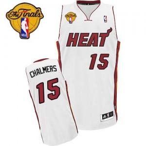 Maillot NBA Swingman Mario Chalmer #15 Miami Heat Home Finals Patch Blanc - Enfants
