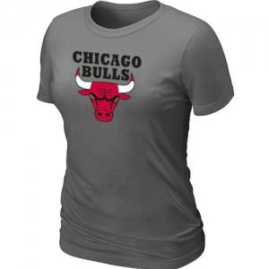 T-shirt principal de logo Chicago Bulls NBA Big & Tall Gris foncé - Femme