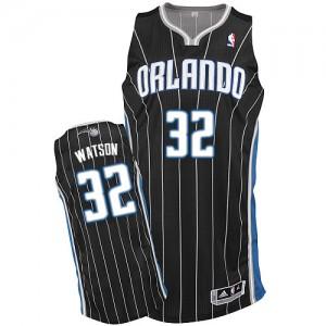 Orlando Magic #32 Adidas Alternate Noir Authentic Maillot d'équipe de NBA pas cher - C.J. Watson pour Homme
