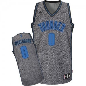 Maillot NBA Swingman Russell Westbrook #0 Oklahoma City Thunder Static Fashion Gris - Homme