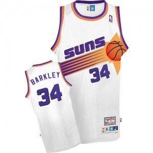 Maillot Mitchell and Ness Blanc Throwback Swingman Phoenix Suns - Charles Barkley #34 - Homme