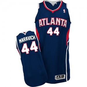 Atlanta Hawks Pete Maravich #44 Road Authentic Maillot d'équipe de NBA - Bleu marin pour Homme