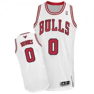 Maillot NBA Blanc Aaron Brooks #0 Chicago Bulls Home Authentic Homme Adidas