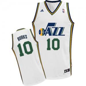 Maillot Adidas Blanc Home Swingman Utah Jazz - Alec Burks #10 - Homme