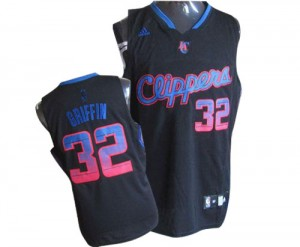 Maillot NBA Los Angeles Clippers #32 Blake Griffin Noir Adidas Authentic Vibe - Homme