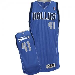Maillot Adidas Bleu royal Road Authentic Dallas Mavericks - Dirk Nowitzki #41 - Enfants