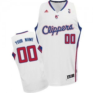 Maillot Los Angeles Clippers NBA Home Blanc - Personnalisé Swingman - Enfants