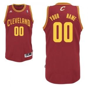 Maillot Adidas Vin Rouge Road Cleveland Cavaliers - Swingman Personnalisé - Homme