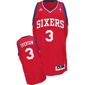 Maillot Adidas Rouge Road Swingman Philadelphia 76ers - Allen Iverson #3 - Homme