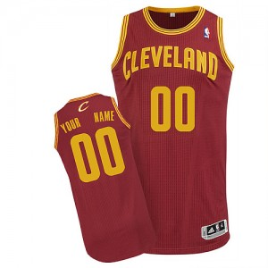 Maillot Cleveland Cavaliers NBA Road Vin Rouge - Personnalisé Authentic - Homme