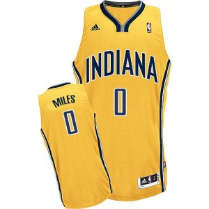 Indiana Pacers C.J. Miles #0 Alternate Swingman Maillot d'équipe de NBA - Or pour Homme