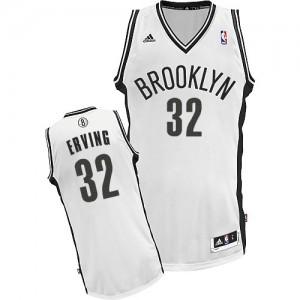 Maillot NBA Brooklyn Nets #32 Julius Erving Blanc Adidas Swingman Home - Homme