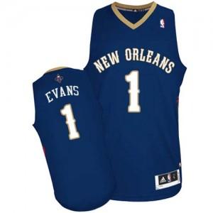 New Orleans Pelicans #1 Adidas Road Bleu marin Authentic Maillot d'équipe de NBA magasin d'usine - Tyreke Evans pour Homme