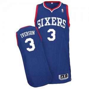 Maillot Authentic Philadelphia 76ers NBA Alternate Bleu royal - #3 Allen Iverson - Homme