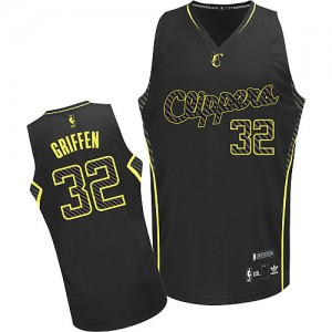 Maillot NBA Authentic Blake Griffin #32 Los Angeles Clippers Electricity Fashion Noir - Homme