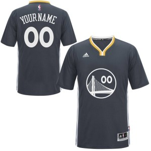 Maillot Adidas Noir Alternate Golden State Warriors - Swingman Personnalisé - Femme