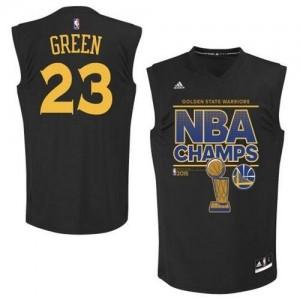 Golden State Warriors #23 Adidas 2015 Finals Champions Noir Swingman Maillot d'équipe de NBA vente en ligne - Draymond Green pour Homme