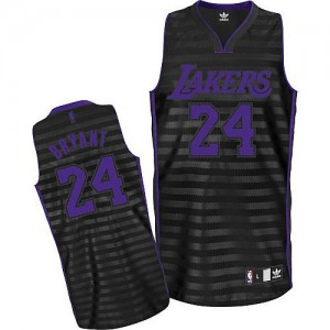 Maillot NBA Authentic Kobe Bryant #24 Los Angeles Lakers Groove Gris noir - Homme