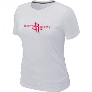 Houston Rockets Big & Tall T-Shirts d'équipe de NBA - Blanc pour Femme