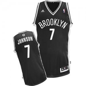 Brooklyn Nets Joe Johnson #7 Road Swingman Maillot d'équipe de NBA - Noir pour Homme