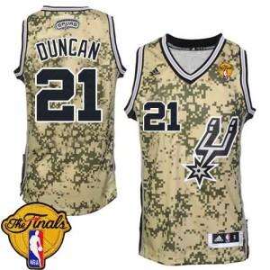Maillot Authentic San Antonio Spurs NBA Finals Patch Camo - #21 Tim Duncan - Homme