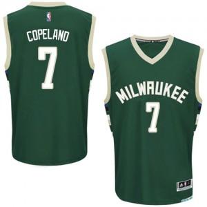 Maillot Authentic Milwaukee Bucks NBA Road Vert - #7 Chris Copeland - Homme
