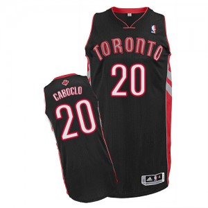 Maillot NBA Noir Bruno Caboclo #20 Toronto Raptors Alternate Authentic Homme Adidas