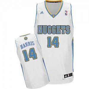 Maillot NBA Blanc Gary Harris #14 Denver Nuggets Home Swingman Homme Adidas