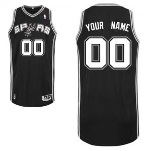 Maillot NBA Authentic Personnalisé San Antonio Spurs Road Noir - Homme