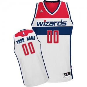 Maillot Adidas Blanc Home Washington Wizards - Swingman Personnalisé - Homme