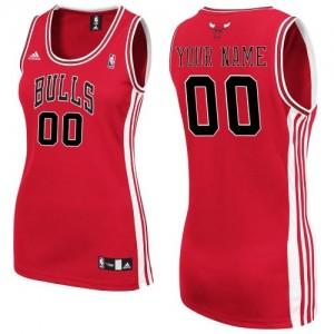 Maillot NBA Chicago Bulls Personnalisé Swingman Rouge Adidas Road - Femme